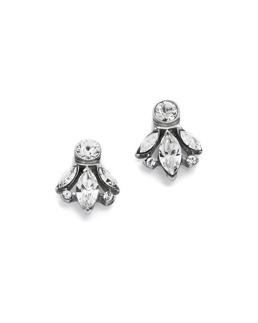 Ben-Amun | Metallic Crystal Trio Stud Earrings | Lyst