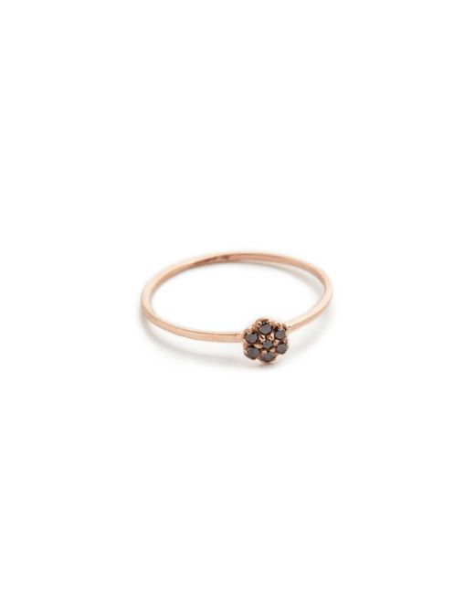 Blanca Monros Gomez | Pink Black Diamond Small Rosette Stacking Ring | Lyst