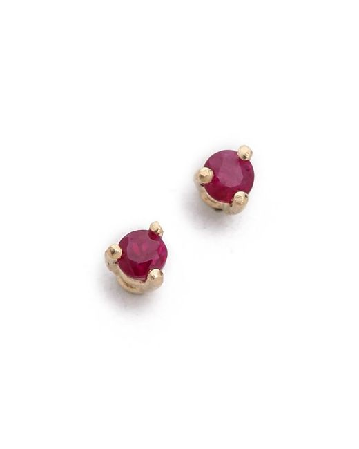 Blanca Monros Gomez | Red Tiny Ruby Stud Earrings | Lyst
