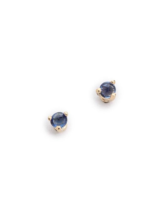 Blanca Monros Gomez | Blue Tiny Sapphire Stud Earrings | Lyst