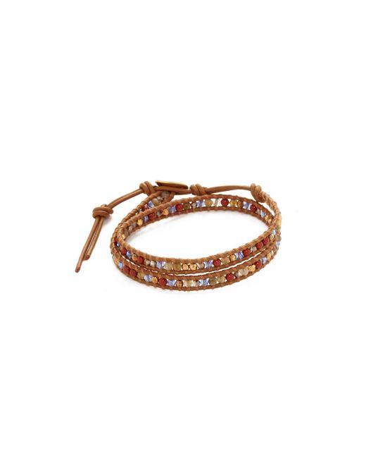 Chan Luu | Brown Double Wrap Bracelet | Lyst