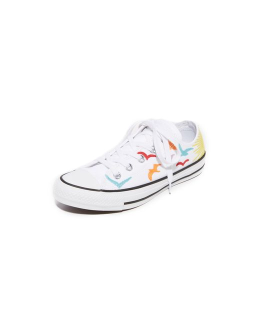 Converse   White Chuck Taylor All Star X Mara Hoffman Ox Sneakers   Lyst