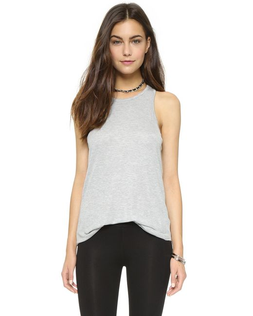 David Lerner | Gray Racer Back Tank | Lyst