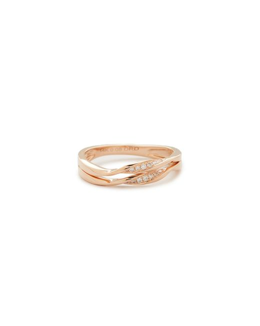 Dana Rebecca | Metallic Carly Beth 14kt Rose Gold Double-twist Ring | Lyst