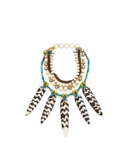 Erickson Beamon | Multicolor Imitation Pearl Safari Necklace | Lyst