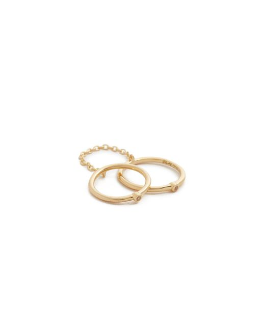 Elizabeth and James | Metallic Miro Knuckle Ring | Lyst