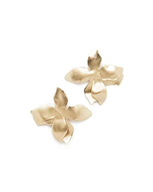 Elizabeth and James | Metallic Dalia Earrings | Lyst