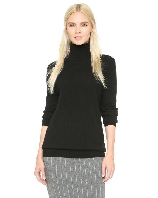 Equipment | Black Oscar Turtleneck Cashmere Sweater | Lyst