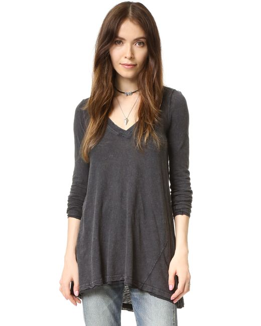 Free People | Gray Anna Tee | Lyst