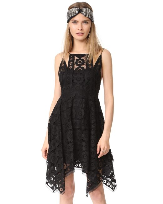 Free people Just Like Honey Lace Dress in Black - Save 3% ...