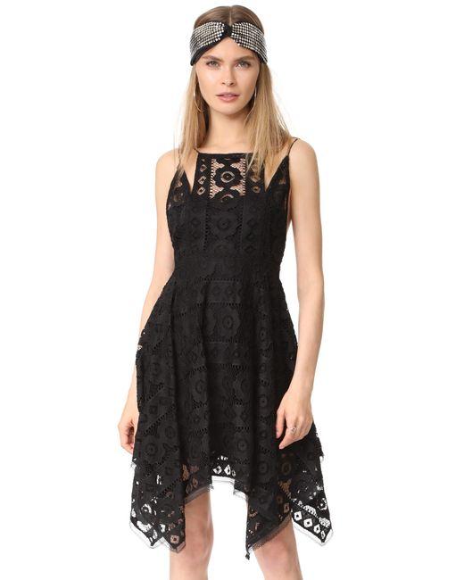 Free People | Black Just Like Honey Lace Dress | Lyst