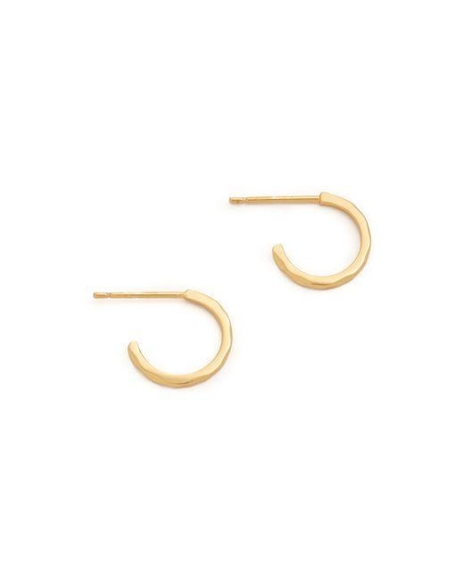 Gorjana | Metallic Taner Bar Mini Hoop Earrings | Lyst