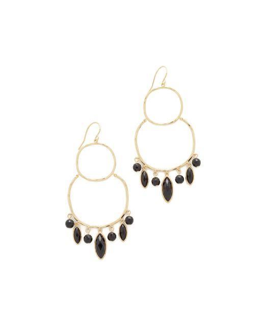 Gorjana   Metallic Eliza Gemstone Chandelier Earrings   Lyst