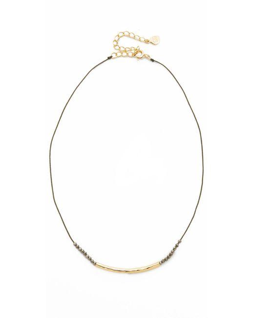 Gorjana | Metallic Power Gemstone Choker Necklace | Lyst