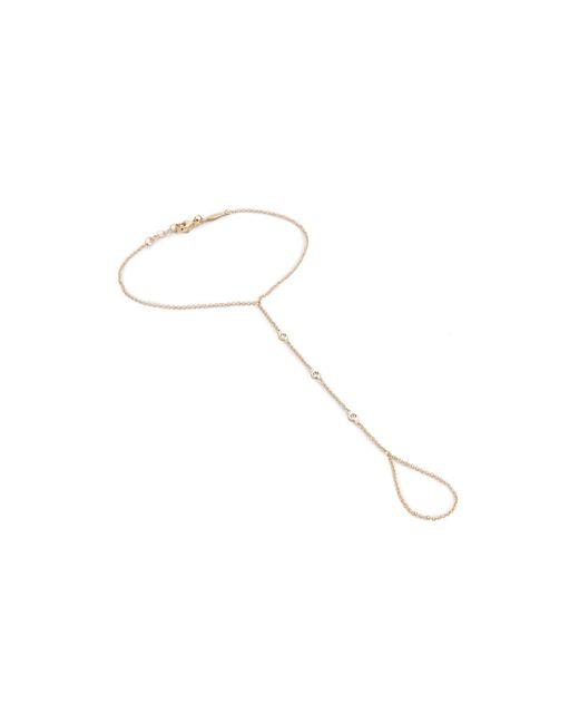 Jacquie Aiche | Metallic 3 Diamond Finger Bracelet | Lyst