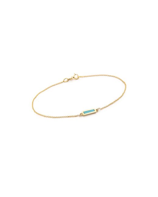 Jennifer Meyer | Metallic Inlay Short Bar Bracelet | Lyst