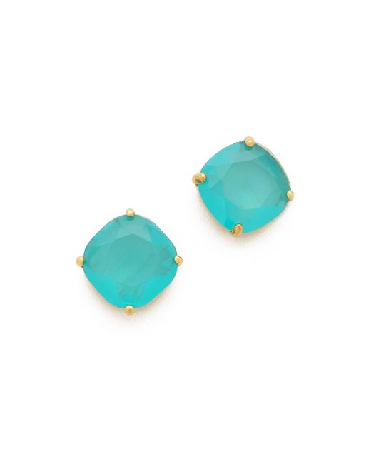 kate spade new york | Blue Small Square Stud Earrings | Lyst