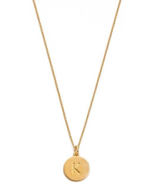 kate spade new york | Metallic Letter Pendant Necklace | Lyst