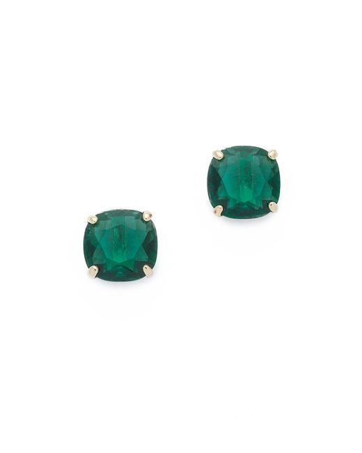 kate spade new york | Green Small Square Stud Earrings | Lyst