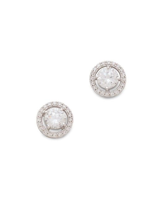 Kenneth Jay Lane | Metallic Round Floating Stud Earrings | Lyst