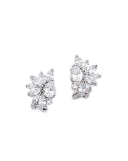 Kenneth Jay Lane | Multicolor Marquis Cluster Pear Cz Earrings | Lyst