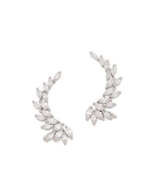 Kenneth Jay Lane | Metallic Marquis Winged Cz Ear Crawlers | Lyst