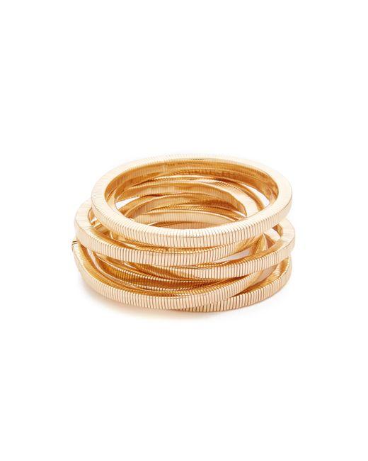 Kenneth Jay Lane | Metallic Polished Gold 8 Stack Bracelet | Lyst