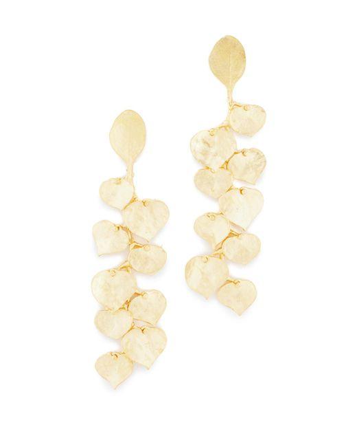 Kenneth Jay Lane | Metallic Satin Gold Leaf Earrings | Lyst