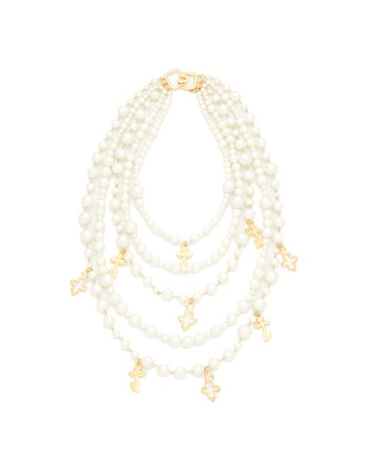 Kenneth Jay Lane   Multicolor Imitation Pearl With Charms Necklace   Lyst