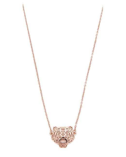 KENZO | Pink Mini Tiger Necklace | Lyst
