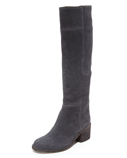 Ld Tuttle The Lost Suede Knee High Boots In Blue Lyst