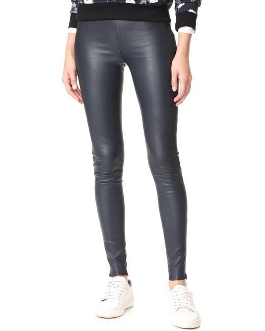 Mackage | Blue Navi Leather Pants | Lyst