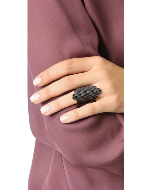 Maha Lozi | Black Duchess Ring | Lyst