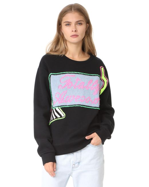 Michaela Buerger | Black Totally Awesome Sweatshirt | Lyst