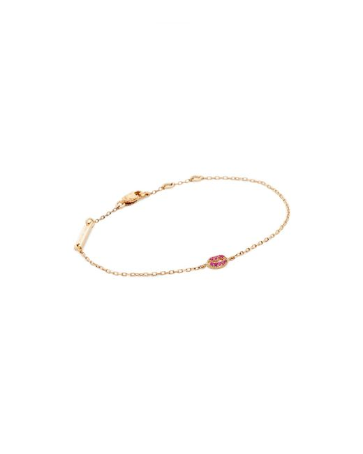 Marc Jacobs | Metallic Lips Chain Bracelet | Lyst