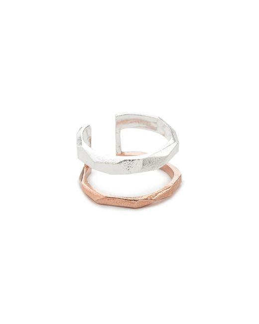 Maya Magal | Metallic Faceted Stripe Ring | Lyst
