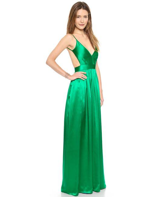 One By   Green Babs Bibb Silk Maxi Dress   Lyst