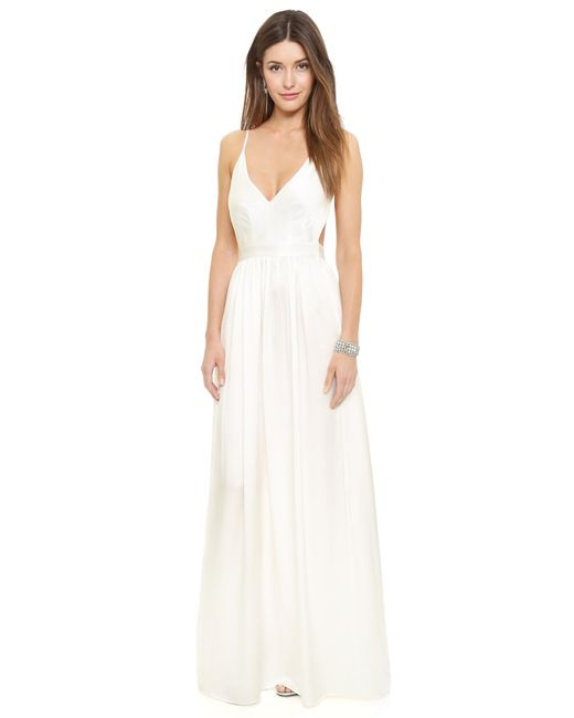 One By | White Babs Bibb Maxi Dress | Lyst