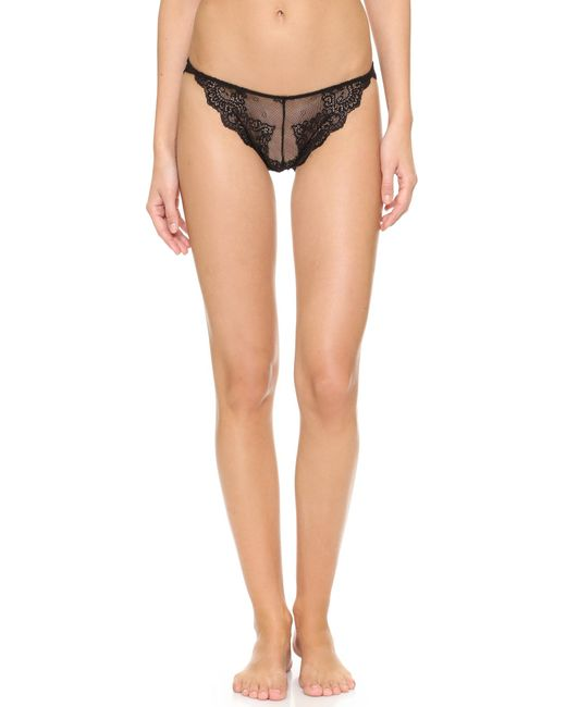 Only Hearts | Black So Fine Lace Thong | Lyst