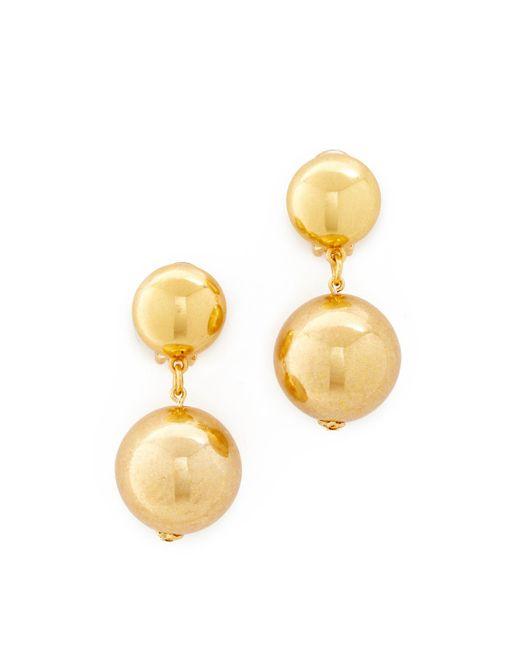 Oscar de la Renta | Metallic Drop Clip On Earrings | Lyst