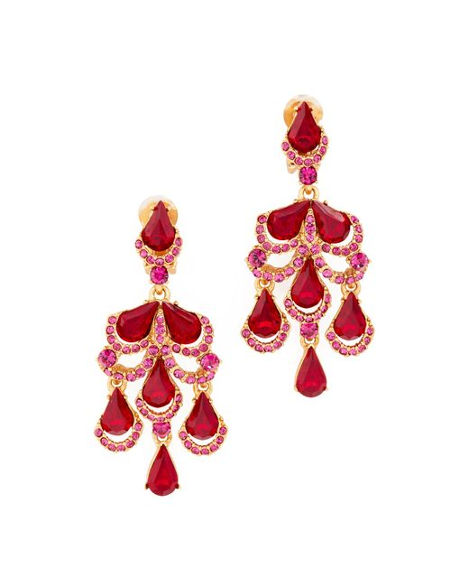 Oscar de la Renta | Multicolor Baroque Clip On Earrings | Lyst