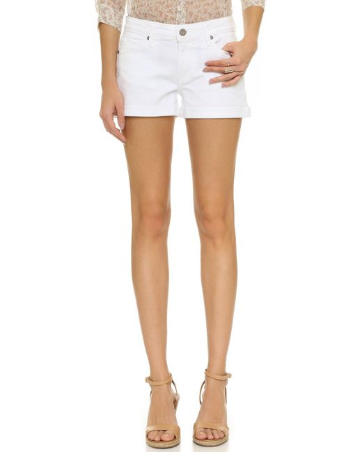 PAIGE | White Jimmy Jimmy Shorts | Lyst