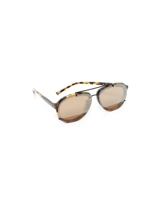3.1 Phillip Lim | Multicolor Mirrored Aviator Sunglasses | Lyst