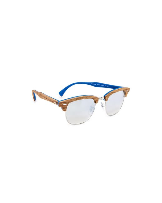 Ray-Ban | Multicolor Wood Clubmaster Flash Sunglasses | Lyst
