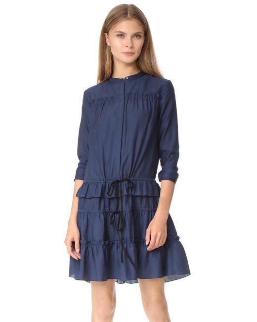 Robert Rodriguez | Blue Ruffle Tiered Dress | Lyst