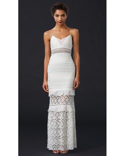 Self portrait peony bridal dress in white save 44 lyst for Self portrait wedding dress
