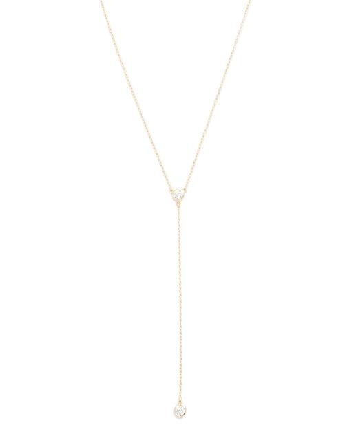 Shashi | Metallic Solitaire Lariat Necklace | Lyst