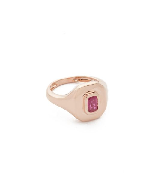 SHAY | Metallic 18k Gold Baguette Essential Pinky Ring | Lyst