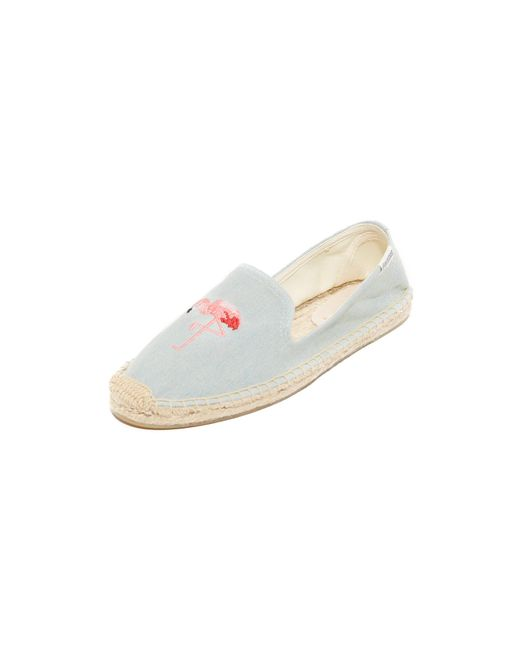 Soludos | Blue Flamingo Smoking Slipper Espadrilles | Lyst