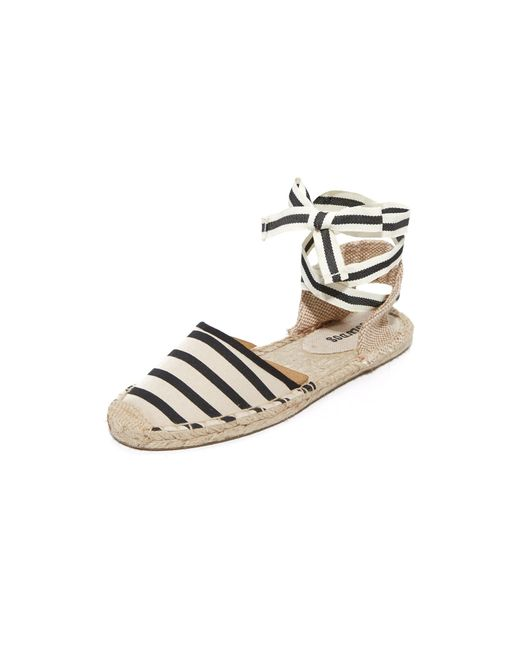 Soludos | Natural Striped Espadrille Sandals | Lyst